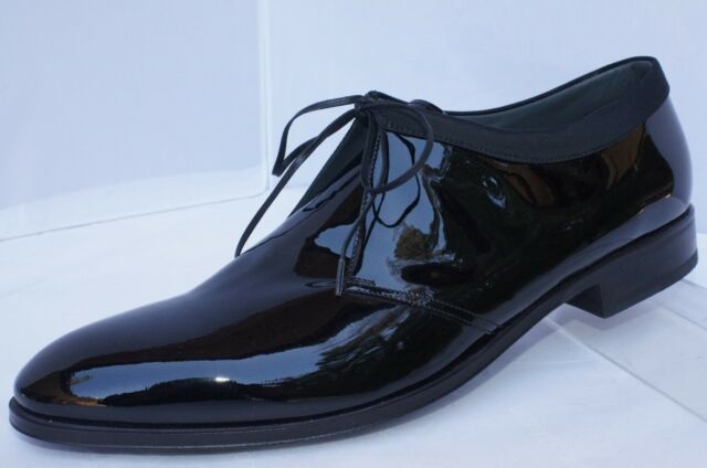 8eff8a7098 Dior Mens Black Shoes Derby Dress Lace up Size 45 Patent Leather for ...