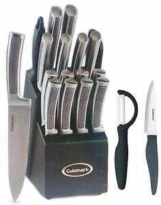 Cuisinart-21PC-Stainless-Forged-Block-Set-Embossed-Ceramic-knife-paypal-CNY17