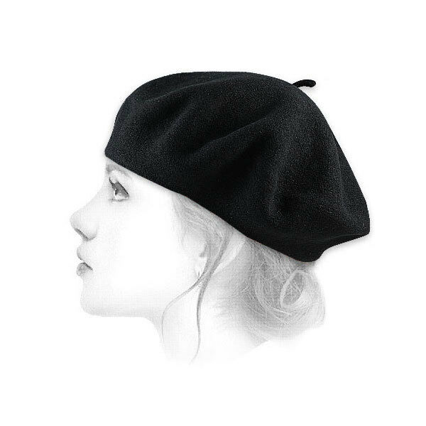 French Berets Black Classic Style 100% Wool Made in France by Le Beret Francais
