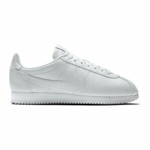 Mirar furtivamente Cambio audible  Nike Classic Cortez Leather Zapatillas Blanco Mujer | eBay