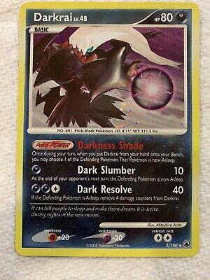 Holo Rare 1x Darkrai 3//100 Reverse Holo Lightly Played Pokemon Diamond /& P