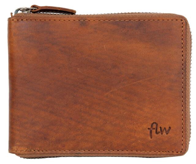 Worldwide Fast Shipping. Men/'s metal zip-around genuine leather wallet Lozano