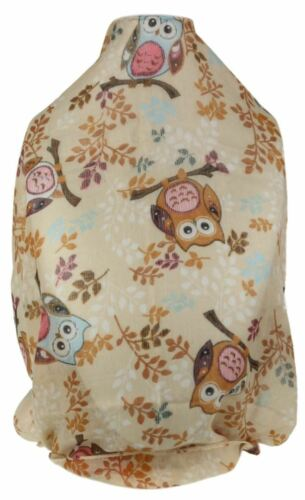 Ladies Comic Owls Print Scarf Creative Branch Trees Soft Chiffon Classic Shawl