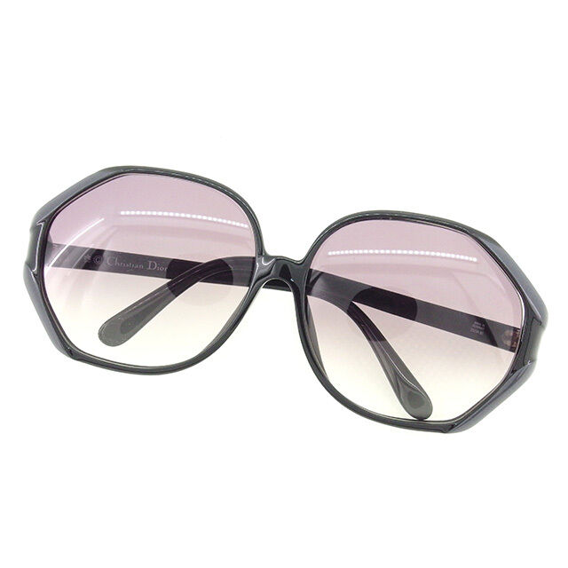 Dior sunglasses Black Grey Woman Authentic Used T1657