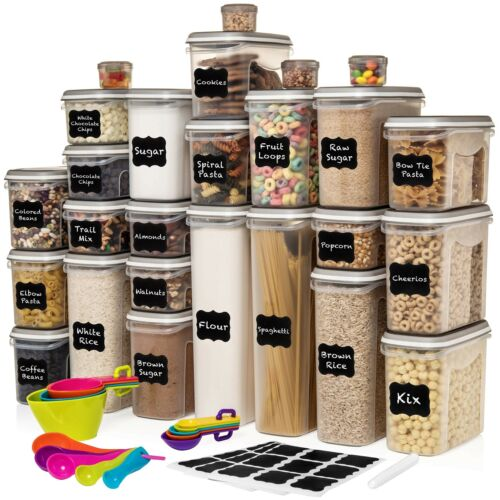 LARGEST Set of 52 Pc Food Storage Containers 26 Container Set Shazo Airtigh...