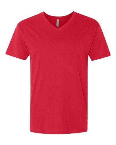 N3200 Premium Unisex Short Sleeve V-Neck T-Shirt Next Level