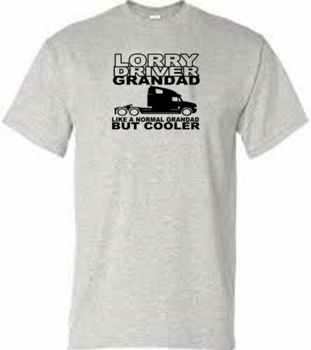 lorry driver t shirt dad grandad snore or logo