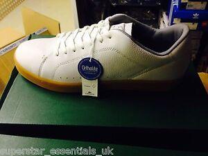 10 5 Carnaby 5 Uk Nuova 7 bianca in B 5 11 10 Lacoste scarpa da pelle Ortholite allenamento 7UPWR