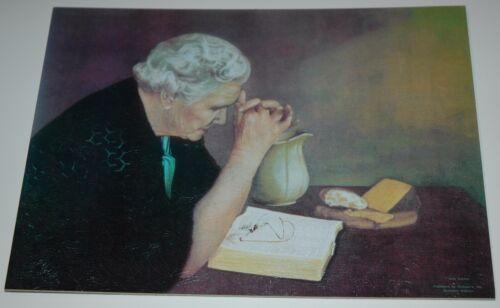 old woman praying Jack Garren GRATITUDE 10x13 unframed mounted textured print