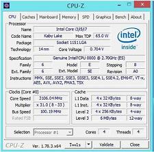 Intel Core i5-7500 ES QKYM 2.7GHz(3.3GHz) 6MB 4C A0 LGA1151  Multiplier Unlock