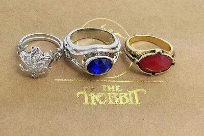 The Lord of Rings Vilya Nenya Narya Ring LOTR jewelry elf Three Rings