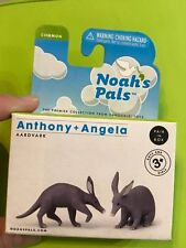 Retired Noah'S Pals Aardvark Animal Pvc figurine figure Model pair Rare in box