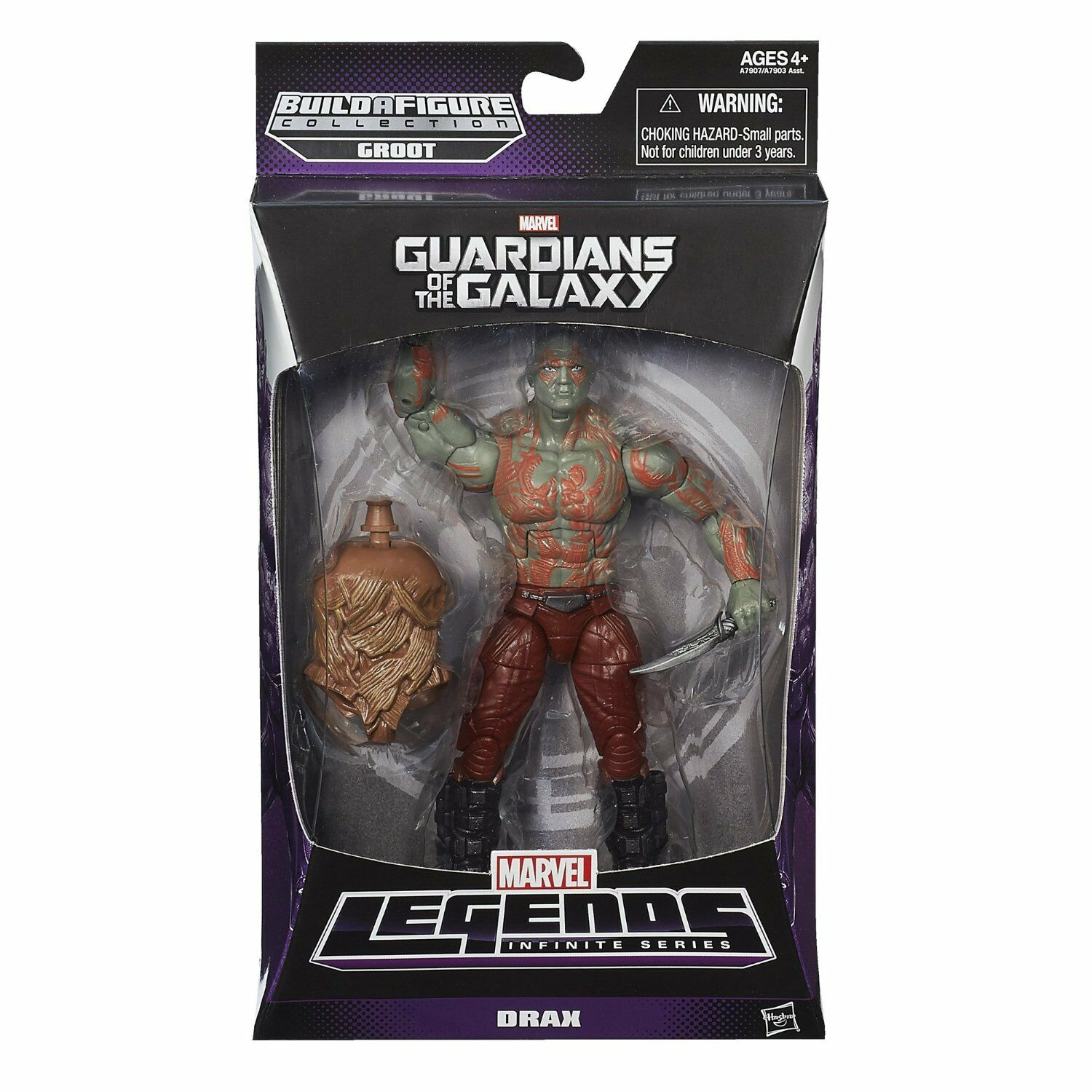 MARVEL LEGENDS INFINITE GUARDIANS OF THE GALAXY DRAX FIGURE BUILD GROOT BAF