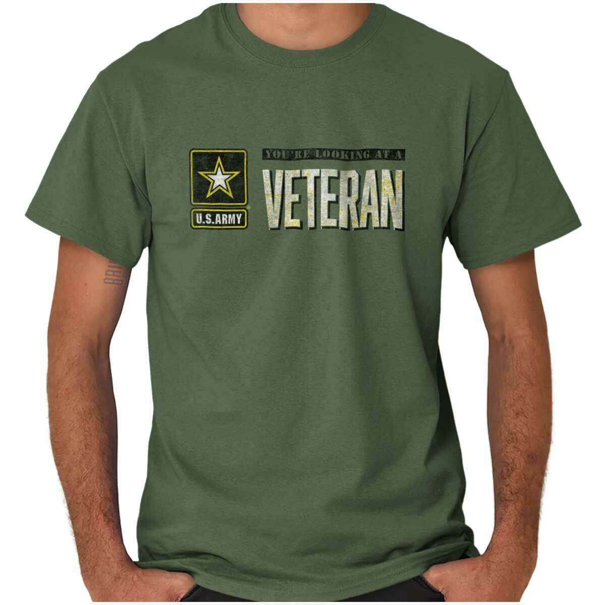 Us Army Veteran Us Armed Forces Usaf Combat Womens Or Mens Crewneck T Shirt Masswerks Store