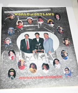 1990-SOUVENIR-YEARBOOK-WORLD-OF-OUTLAWS-SPRINT-CARS-BOBBY-DAVIS-JEFF-SWINDELL