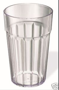 Stewart-Clear-Plastic-Fluted-10oz-Picnic-Bathroom-Party-Beaker-Tumbler-6048