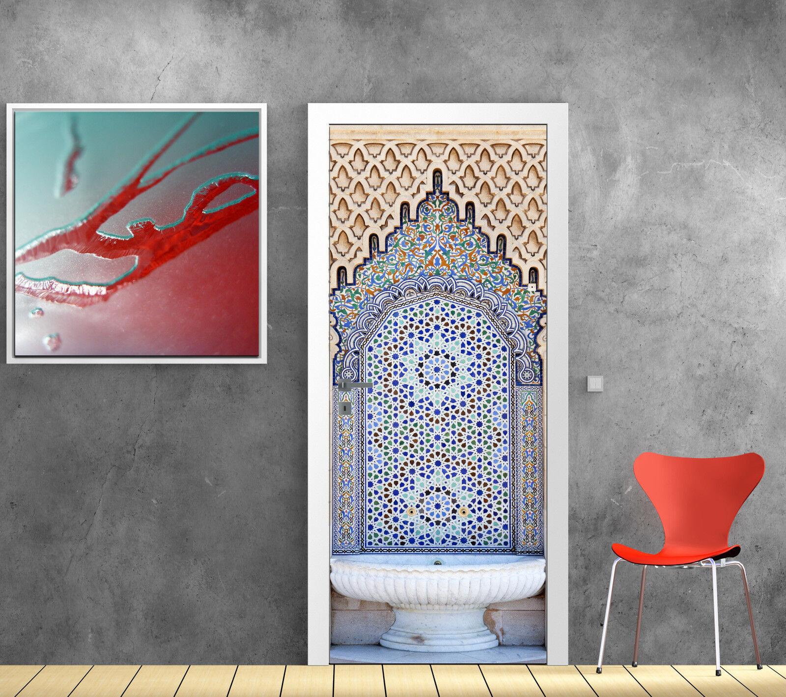 Aufkleber Tür Schein Auge Deko Brunnen Orientalisch Ref 792