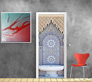 Stickers Porte Trompe Loeil Déco Fontaine Orientale Réf 792 Ebay