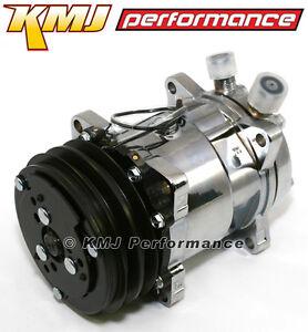 508-A-C-AC-Air-Compressor-V-Belt-Show-Car-New-Sanden-Style