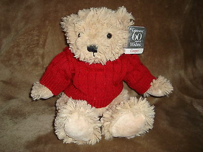 "Sears Christmas Plush Beanbag 2012 60th Anniversary Bear Cooper 10/"""