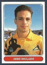 PANINI EUROPEAN FOOTBALL STARS 1997- #108-AEK ATHENS & GREECE-DEMIS NIKOLAIDIS
