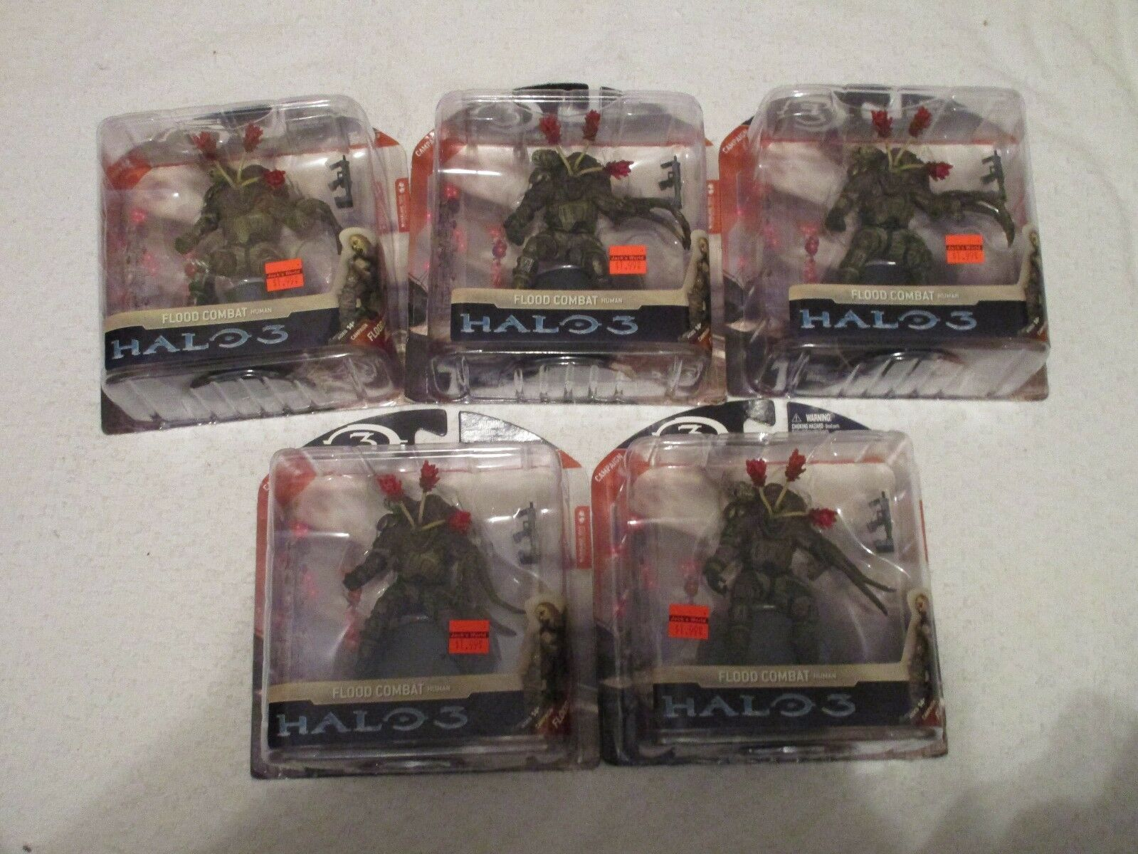McFarlane Halo 3 Series 3 Flood Combat Human Figure Lot of 5