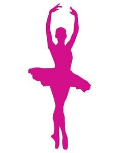 reputable site db38d 5fa7e Details about Ballerina Pink Shape Car Vinyl Sticker - SELECT SIZE