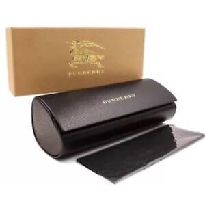 BURBERRY-Sunglass-Eyeglass-Gift-Box-Hard-Case-Clean-Cloth-Medium-Size-Authentic
