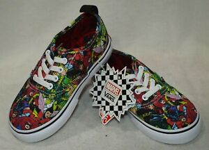 Vans Toddler Girl Boy s Authentic Marvel Multicolor Skate Shoes-Asst ... 59a6e39a8