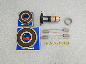 ARK109-NEW-REPAIR-KIT-FOR-VALEO-ALTERNATOR-Bearings-NSK-6303-6202-Brushes-Rings