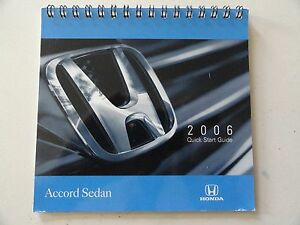 2006 honda accord sedan quick reference guide owners manual rh ebay co uk 2006 honda accord ex service manual 2006 honda accord ex-l v6 owners manual