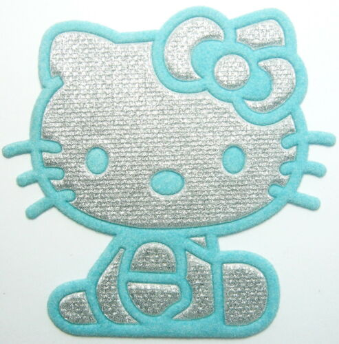 30 pcs Lovely Blue Silvery hello Kitty Cat Iron on Patches ironon applique un#