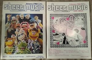 Sheet-Music-Magazine-1982-9-issues-complete-year-Muppet-039-s-Annie-Bourbon-Street