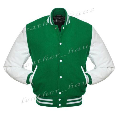 Superba In Finta Pelle Manica Letterman College Varsity LANA giacche # W /_ SL /_ W /_ STR /_ FL