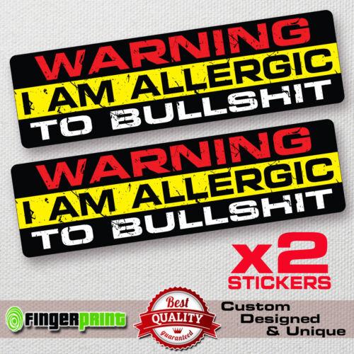 WARNING ALLERGIC decal sticker vinyl funny CAR bumper JEEP BIKE window laptop VW