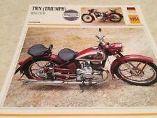 Fiche moto collection Atlas motorbike TWN Triumph BDG 250 H 1951