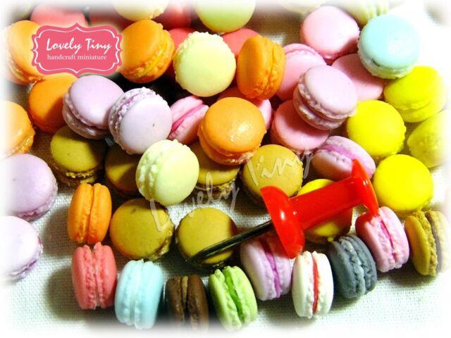 50 Pcs.Wholesale Dollhouse Miniature Macaron/ Macaroon(assorted) Free Shipping!