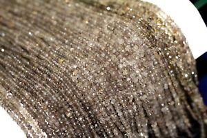 13-034-strand-Superb-natural-smoky-quartz-3-5mm-1-line-loose-beads-stone-artt