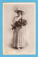 ACTRESS - ROTARY   POSTCARD - ACTRESS -  MISS  EDNA  MAY  -  1906