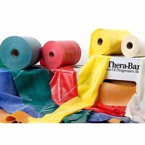 THERA-BAND Fitnessband Übungsband 2 m 2,5 m 3 m in 7 Stärken oder Zubehör Wahl
