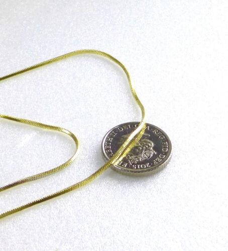 """Hombres Mujeres Enchapado En Oro Amarillo 14K Cubo de serpiente Soga Cadena Collar 60 cm de largo de 23.5/"""""""