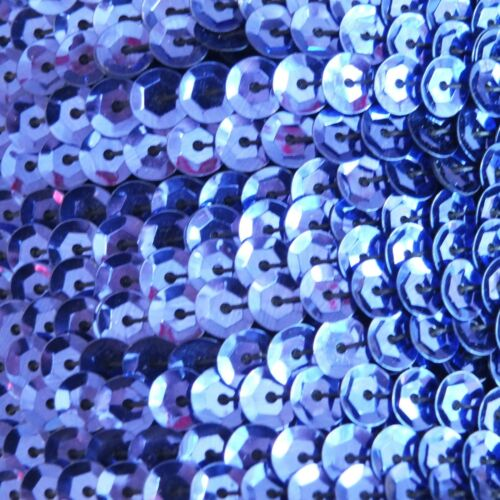 Sequin Trim 5mm cup Royal Blue Shiny Metallic. 5 yards 15' per pack