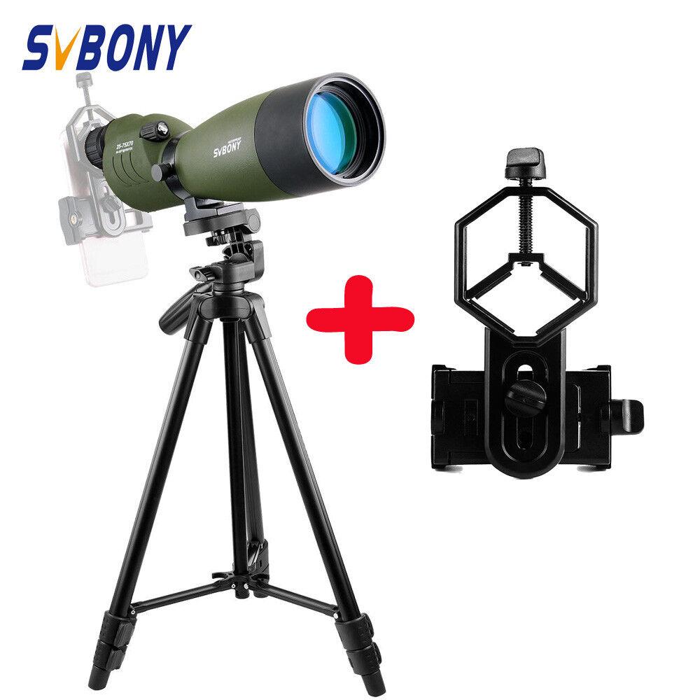 Svbony SV17 Porro FMC 25-75x70mm telescopio terrestre recta y 49  Adaptador de trípode y teléfono