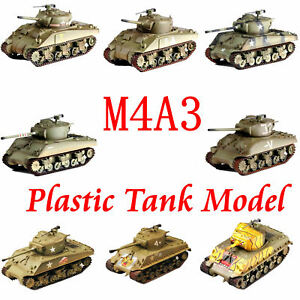 Easy-Model-US-Army-M4A3-Sherman-Plastic-Tank-Model-Normandy-All-M4-of-Easy-Model