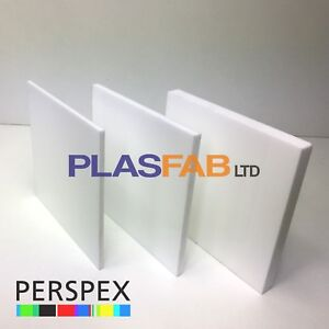 Details about White acrylic sheet perspex 3mm 5mm 10mm plastic cut to size  panel material opal