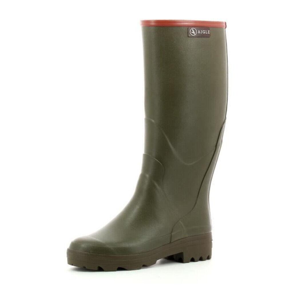 Wellington Stiefel to Hunting and Fishing aigle Waterproof Thermal Rain Grün Man