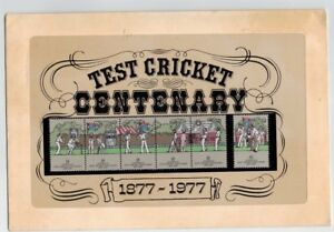 1977-Test-Cricket-Centenary-Stamp-Post-Office-Pack-MUH