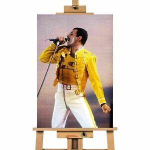 Freddie Mercury Live At Wembley 1986 Canvas Print Wall Art