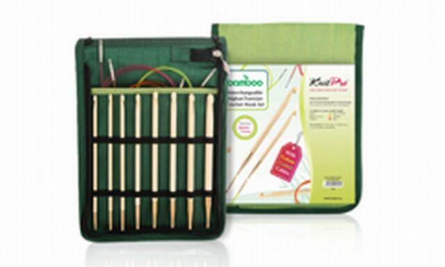 Knit Pro Bamboo Tunesisches Häkelnadel-Set 22550