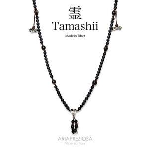 COLLANA ORIGINALE TIBETANA TAMASHII MUDRA ONICE MATT (satinato) NHS1500-64